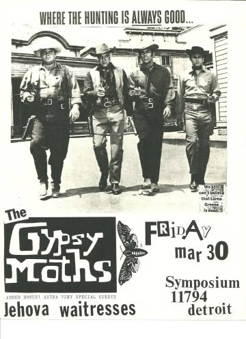 Gyspsy Moths Jehova Waitresses March 1990 Flyer