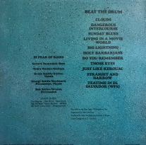 In Fear of Roses Beat The Drum Back Cover