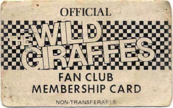 Wild Giraffes Fan Card